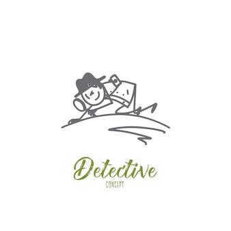 Illustrazione di concetto di detective