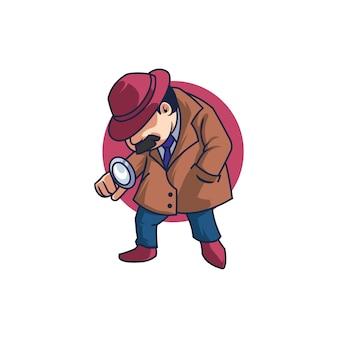 Detective della polizia criminale mafia dell'informazione