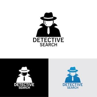 Modello di logo di ricerca detective