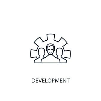 Icona della linea del concetto di sviluppo. illustrazione semplice dell'elemento. disegno di simbolo di contorno del concetto di sviluppo. può essere utilizzato per ui/ux mobile e web