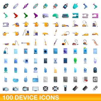 Set di icone del dispositivo. cartoon illustrazione delle icone del dispositivo impostato su sfondo bianco