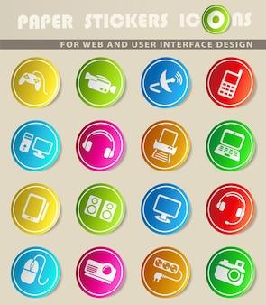 Dispositivi semplicemente simboli per il web e l'interfaccia utente