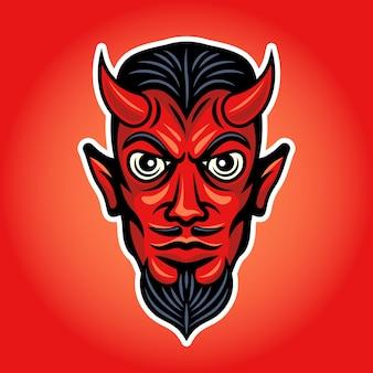 Illustrazione colorata della testa del diavolo