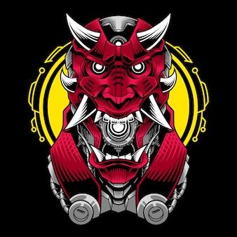 Logo della mascotte della testa del diavolo
