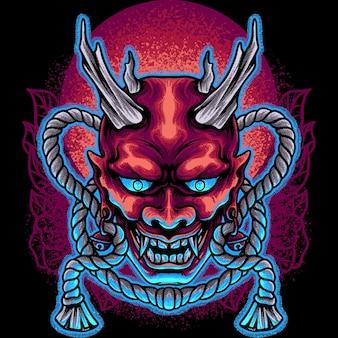 Maschera del diavolo giappone