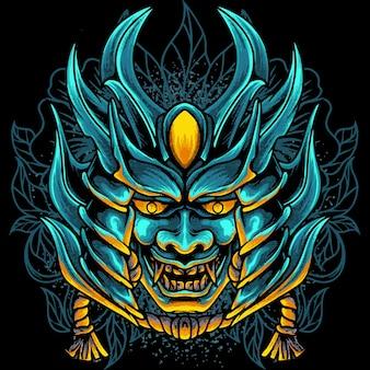 Maschera del diavolo samurai