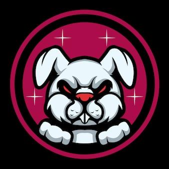 Devil rabbit esport logo illustrazione