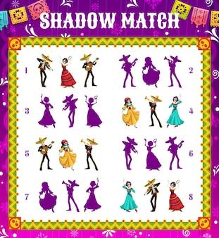 Dia de los muertos shadow match game, puzzle per bambini