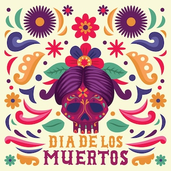 Dia de muertos background versione femminile