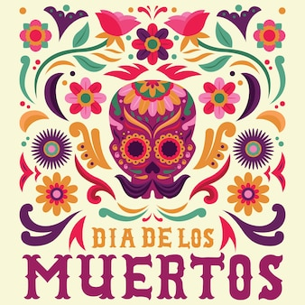 Dia de muertos background versione maschile