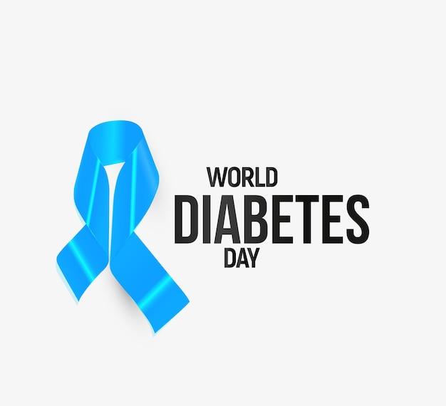 Nastro di sensibilizzazione sul diabete, blu.