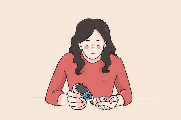 Controllo del diabete e concetto di assistenza sanitaria