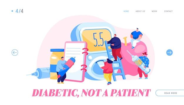 Modello di pagina di destinazione della malattia del diabete