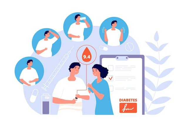 Diabete mellito. analisi del sangue del glucosio