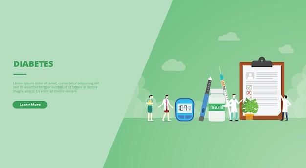 Banner del sito web di diabete