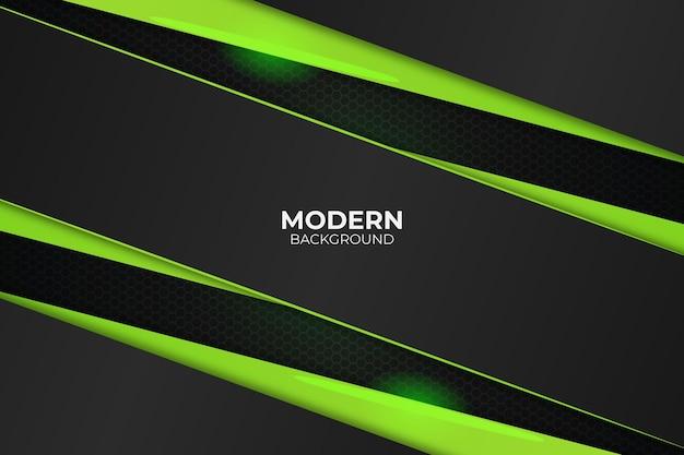Sfondo moderno diagonale linea verde