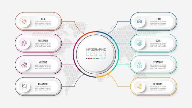 Modello di infografica aziendale diagramma