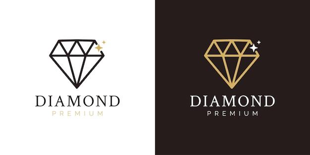 Concetto di design del logo dell'azienda diamante
