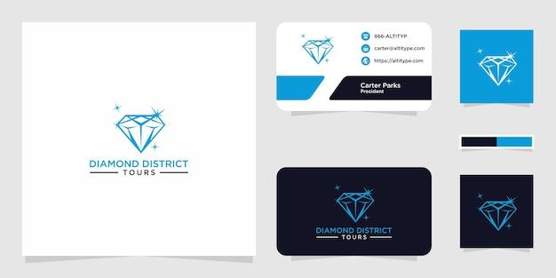 Il design grafico del logo del distretto dei diamanti per altri usi è perfetto