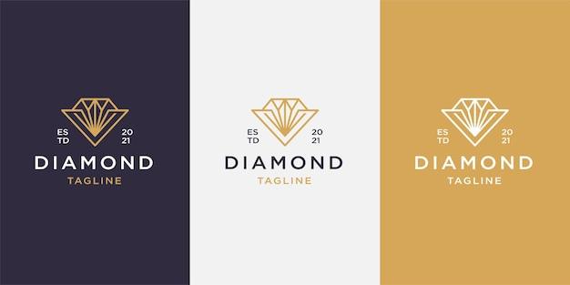 Modello di logo linea diamante