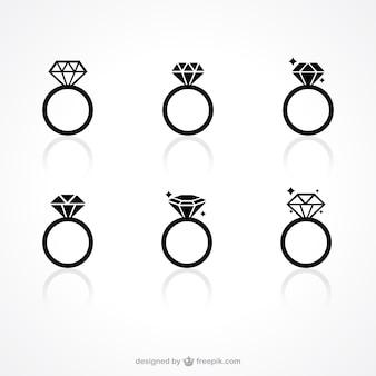 Anello di diamante icone