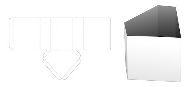 Modello fustellato di scatola di cancelleria a forma di diamante