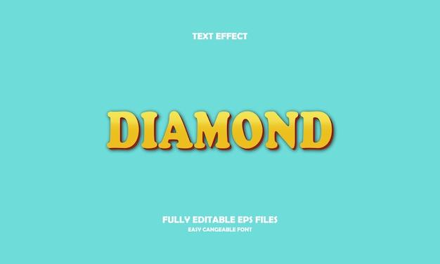 Effetto testo diamante