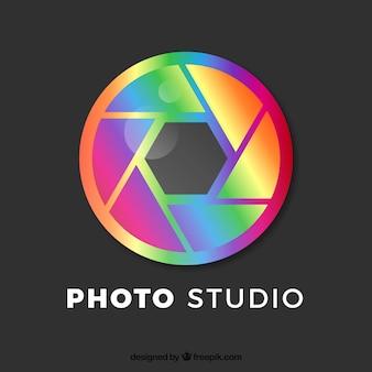 Logo fotografico a diaframma a colori