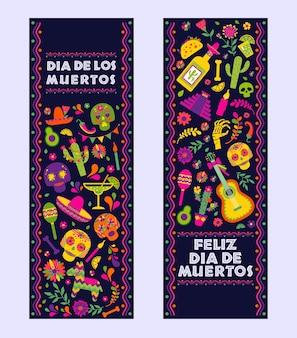 Dias de los muerto, bandiera di celebrazione di fiesta messicana