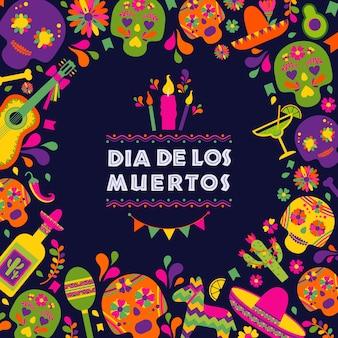 Dias de los muertos, festa della morte, tradizionale festa messicana.