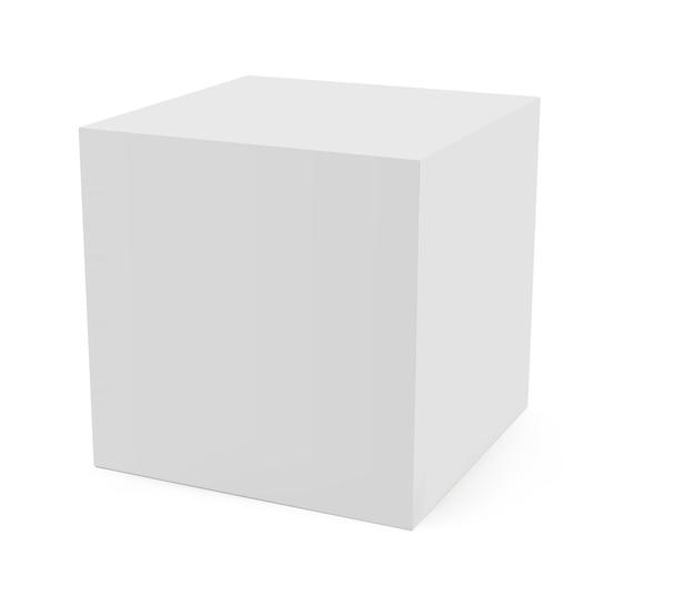 Mockup di cubo di dadi isolato su priorità bassa bianca