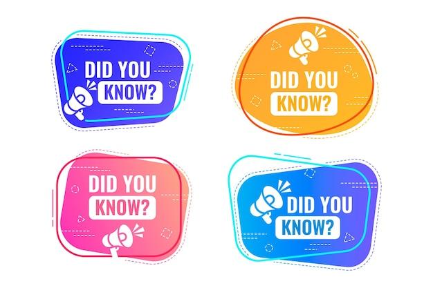 Sapevi che collezione di badge