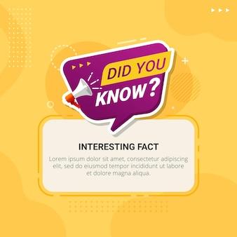 Sapevi che i banner per l'istruzione e la pubblicità?