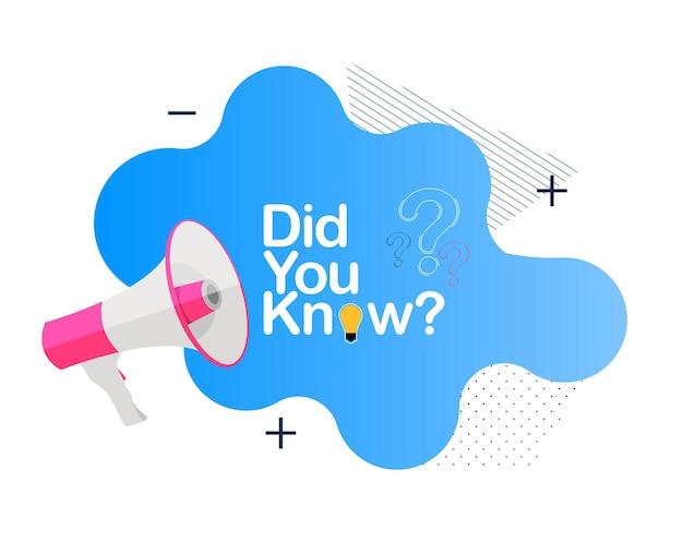 Conoscevi uno sfondo di fatti interessanti?