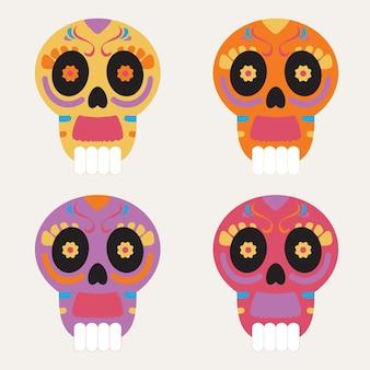 Set di icone die de muertos