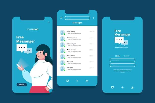 Diversi concetti di interfaccia dell'app