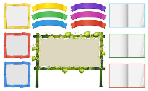 Diversi modelli di frame e banner