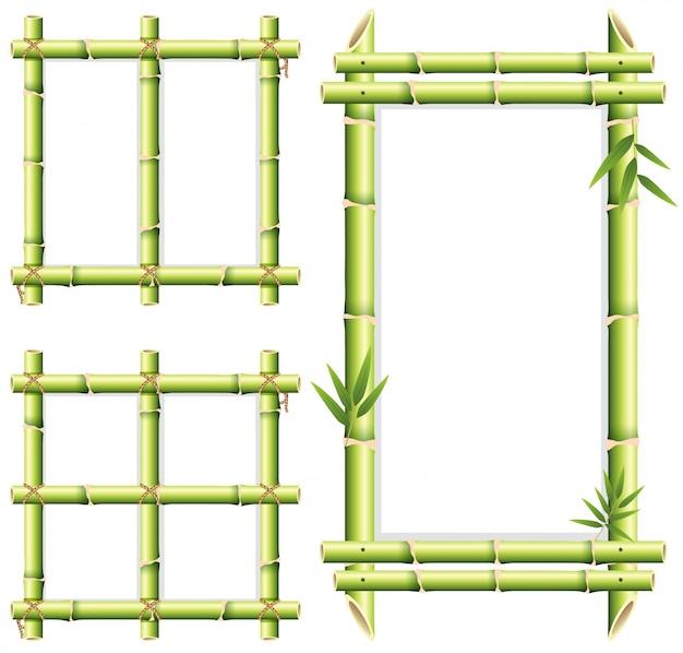 Disegno diverso del telaio dei legni di bambù