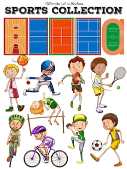 Diversi tipi di sport e campi