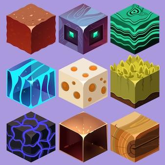 Diversi materiali e trame per il gioco