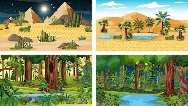 Scene orizzontali di natura diversa