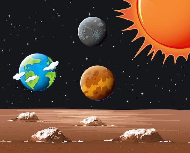 Diversi pianeti nel sistema solare