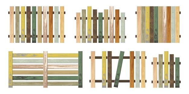 Diverse forme di staccionata in legno