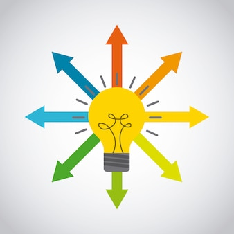 I pensieri differenti progettano, vector il grafico dell'illustrazione eps10