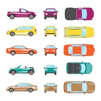 Set di auto di trasporto diverso