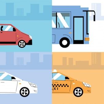 Diversi mezzi di trasporto, trasporto urbano
