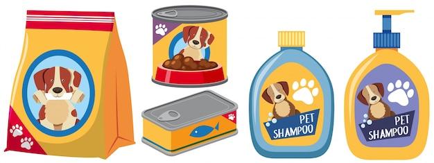 Diversi tipi di prodotti per il cane