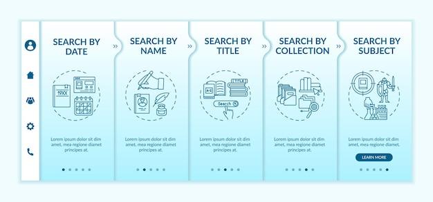 Diversi tipi di ricerca modello di onboarding