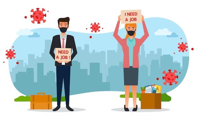 La difficoltà dell'occupazione ha fatto sì che questi due disoccupati faticassero a trovare lavoro nel mezzo della pandemia