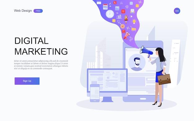 Pubblicità digitale, conferenza online di marketing tramite e-mail, promozione dei media